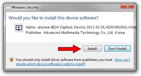 Advanced Multimedia Technology Co.,Ltd. Korea anysee BDA Capture Device 2012.03.05,AD01062093,Vista driver installation 1413073