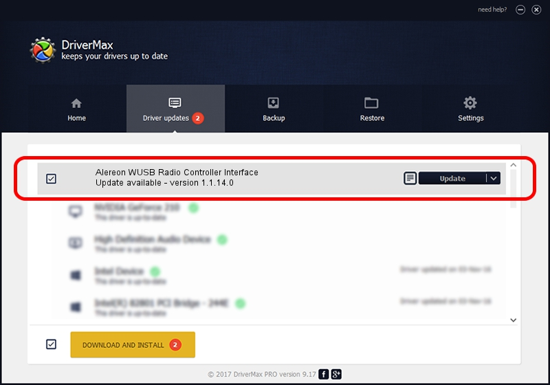 Alereon, Inc. Alereon WUSB Radio Controller Interface driver update 1105130 using DriverMax