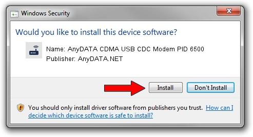 AnyDATA.NET AnyDATA CDMA USB CDC Modem PID 6500 setup file 1423719