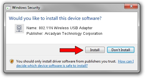 Arcadyan Technology Corporation 802.11N Wireless USB Adapter setup file 1409896