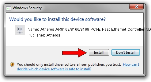 Atheros Atheros AR8162/8166/8168 PCI-E Fast Ethernet Controller NDIS 6.20 driver download 1396644