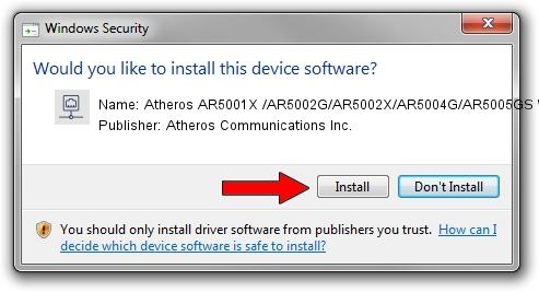 Atheros Communications Inc. Atheros AR5001X /AR5002G/AR5002X/AR5004G/AR5005GS Wireless Network Adapter driver installation 1264959