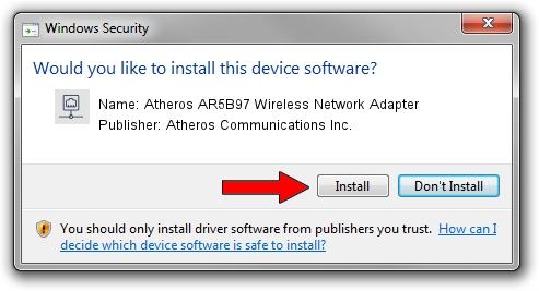 Atheros Communications Inc. Atheros AR5B97 Wireless Network Adapter setup file 1051836