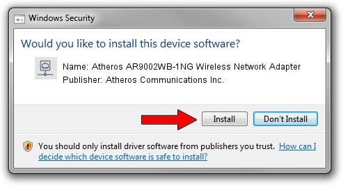Atheros Communications Inc. Atheros AR9002WB-1NG Wireless Network Adapter setup file 1749744