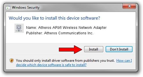 Atheros Communications Inc. Atheros AR95 Wireless Network Adapter setup file 1708238