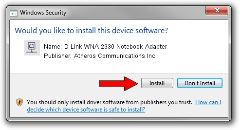 Atheros Communications Inc. D-Link WNA-2330 Notebook Adapter setup file 1418161