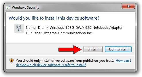 Atheros Communications Inc. D-Link Wireless 108G DWA-620 Notebook Adapter setup file 2011537