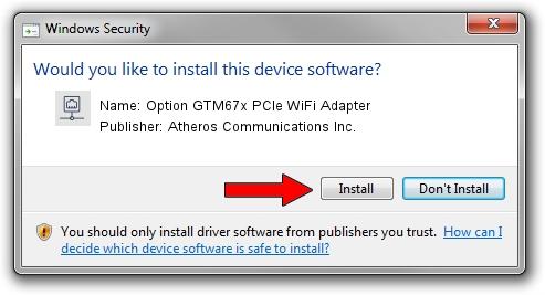 Atheros Communications Inc. Option GTM67x PCIe WiFi Adapter setup file 1641973