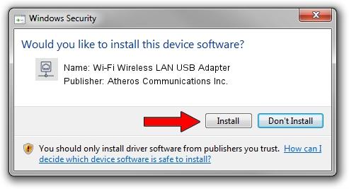 Atheros Communications Inc. Wi-Fi Wireless LAN USB Adapter setup file 1780841