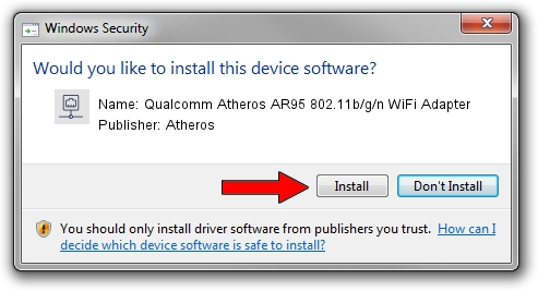 Atheros Qualcomm Atheros AR95 802.11b/g/n WiFi Adapter setup file 20291