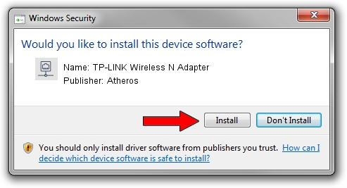 Atheros TP-LINK Wireless N Adapter driver installation 1780225