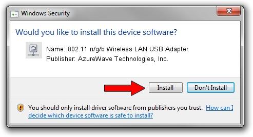 AzureWave Technologies, Inc. 802.11 n/g/b Wireless LAN USB Adapter setup file 1404521
