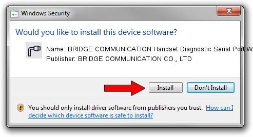 BRIDGE COMMUNICATION CO., LTD BRIDGE COMMUNICATION Handset Diagnostic Serial Port WDM driver download 1640442