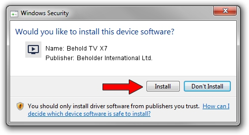 Beholder International Ltd. Behold TV X7 setup file 1393940