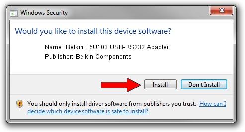 Belkin Components Belkin F5U103 USB-RS232 Adapter setup file 2094705