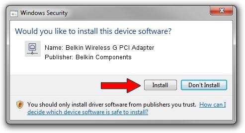 Belkin Components Belkin Wireless G PCI Adapter setup file 68779