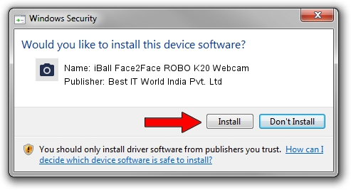 Best IT World India Pvt. Ltd iBall Face2Face ROBO K20 Webcam driver installation 507133