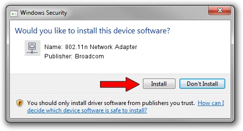 Broadcom 802.11n Network Adapter driver installation 898774