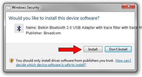 Broadcom Belkin Bluetooth 2.0 USB Adapter with trace filter with trace filter setup file 1391681