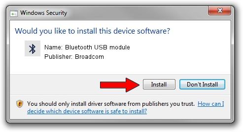 Broadcom Bluetooth USB module driver installation 1385731