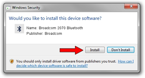 Broadcom Broadcom 2070 Bluetooth driver installation 2050133