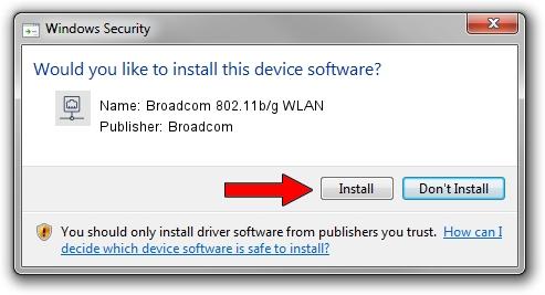 Broadcom Broadcom 802.11b/g WLAN driver installation 1101636