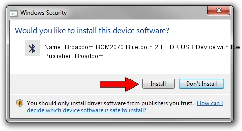 Broadcom Broadcom BCM2070 Bluetooth 2.1 EDR USB Device with low power filter driver installation 1399370