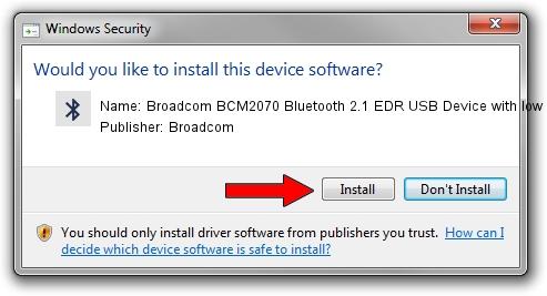 Broadcom Broadcom BCM2070 Bluetooth 2.1 EDR USB Device with low power filter driver installation 1399384