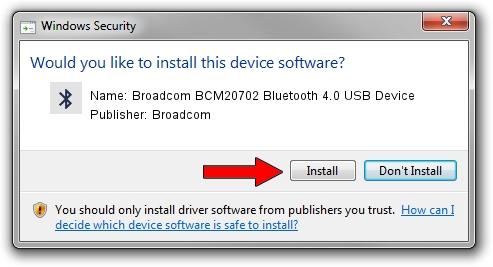 Broadcom Broadcom BCM20702 Bluetooth 4.0 USB Device driver installation 1101899