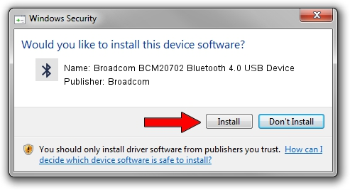 Broadcom Broadcom BCM20702 Bluetooth 4.0 USB Device setup file 1443000