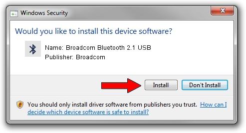 Broadcom Broadcom Bluetooth 2.1 USB driver installation 1323786