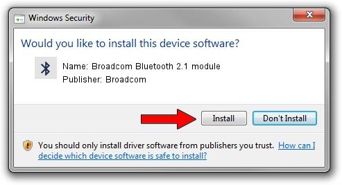 Broadcom Broadcom Bluetooth 2.1 module driver installation 1052135