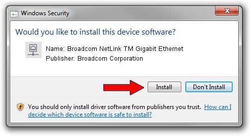 Broadcom Corporation Broadcom NetLink TM Gigabit Ethernet driver download 1209106