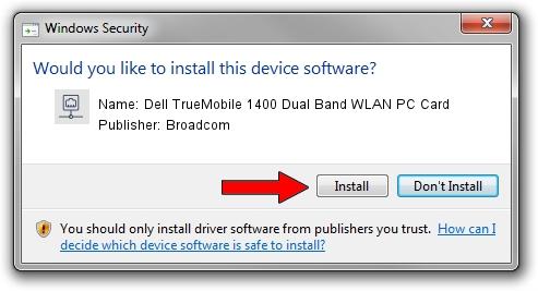 Broadcom Dell TrueMobile 1400 Dual Band WLAN PC Card driver download 1102627