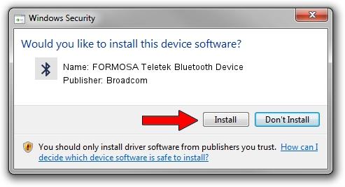 Broadcom FORMOSA Teletek Bluetooth Device driver installation 1642019