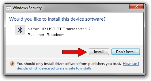 Broadcom HP USB BT Transceiver 1.2 driver download 1418315