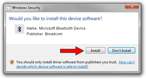 Broadcom Microsoft Bluetooth Device setup file 1400604