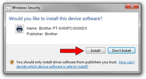 BROTHER PT-9300PC9200DX DRIVERS FOR WINDOWS 10