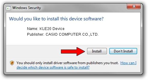 CASIO COMPUTER CO.,LTD. KLE20 Device driver download 1406174