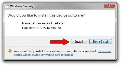 CSI Wireless Inc Accessories Interface driver installation 1778104