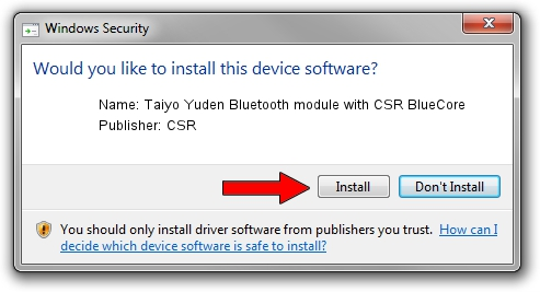 CSR Taiyo Yuden Bluetooth module with CSR BlueCore driver download 1051090