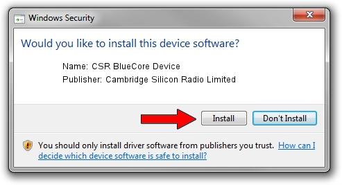 Cambridge Silicon Radio Limited CSR BlueCore Device driver download 1399839