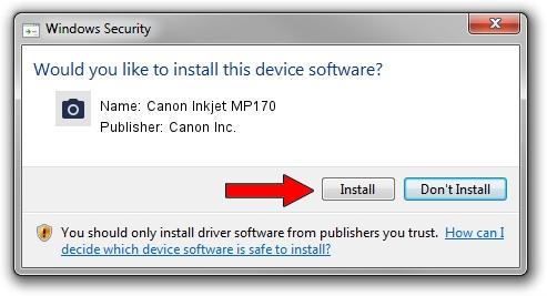 Canon Inc. Canon Inkjet MP170 driver installation 1937933