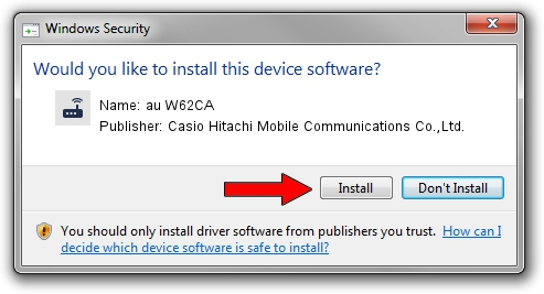 Casio Hitachi Mobile Communications Co.,Ltd. au W62CA driver installation 1399038