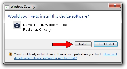 Chicony HP HD Webcam Fixed driver installation 1438004