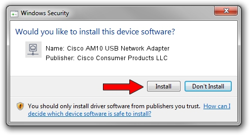 Cisco Consumer Products LLC Cisco AM10 USB Network Adapter setup file 1410589