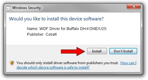 Cobalt WDF Driver for Buffalo DH-KONE/U2S driver installation 2096116