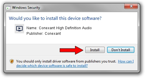 Conexant Conexant High Definition Audio driver installation 38794