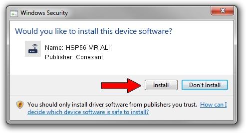 Conexant HSP56 MR ALI setup file 1433832