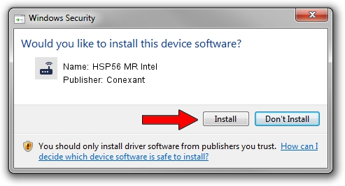 Conexant HSP56 MR Intel driver installation 1433891